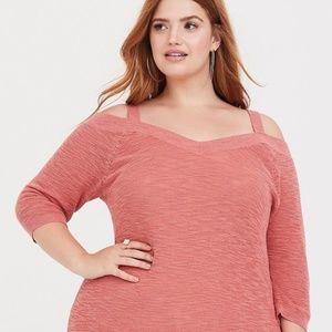 Torrid V Neck Cold Shoulder Sweater Size 1X